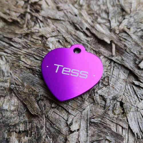 Tess - Purple Heart Pet Tag